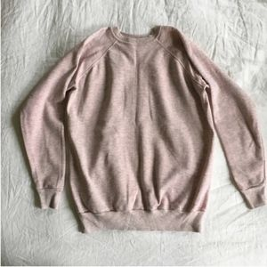 VINTAGE heather pink crewneck sweatshirt